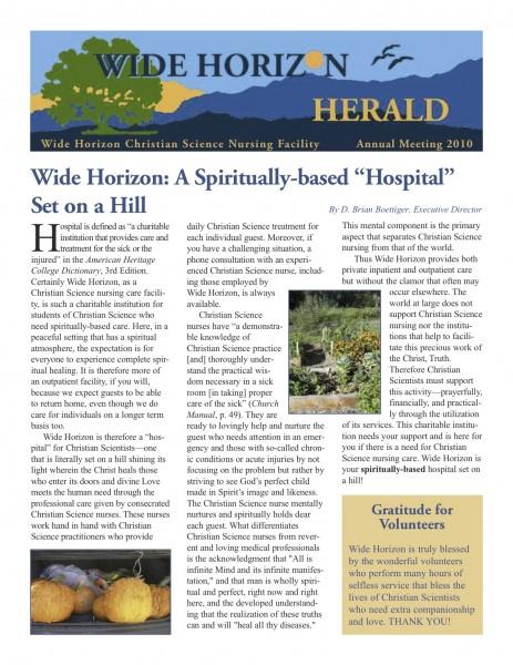 Wide Horizon Herald - Annual Meeting 2010