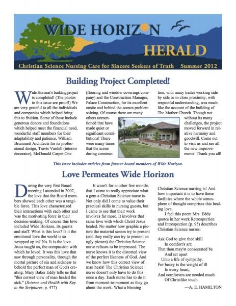 Wide Horizon Herald Summer 2012