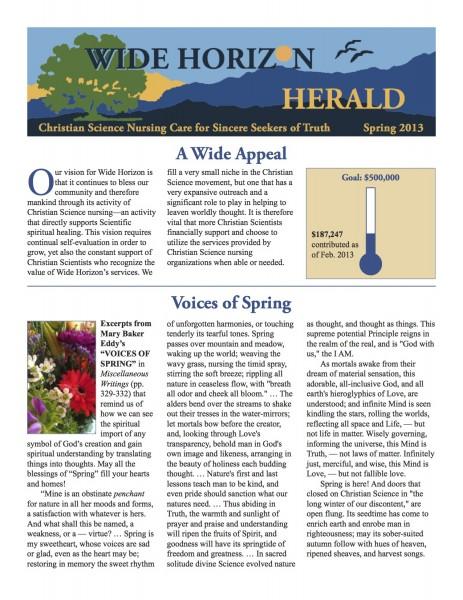 Spring 2013 Wide Horizon Herald