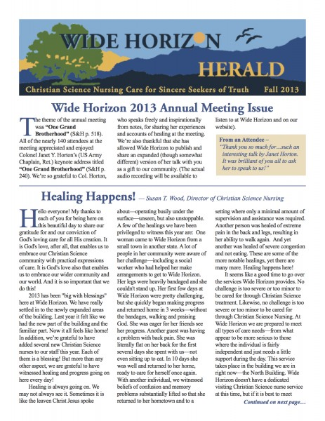 Wide Horizon Herald_Fall 2013_Web
