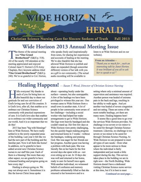 Wide Horizon Herald_Fall 2013_Web